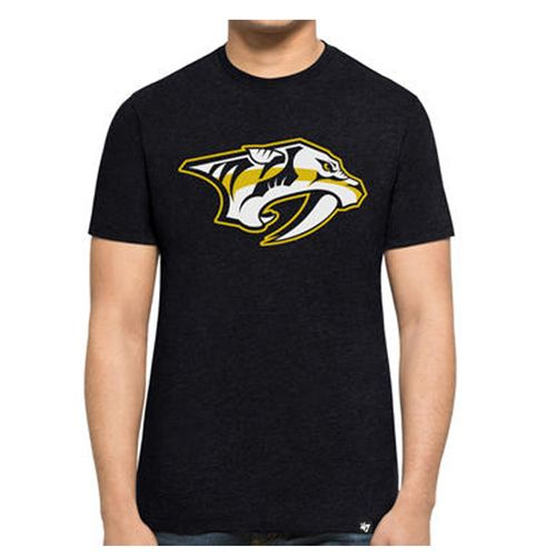 '47 Brand Men's Nashville Predators Primary Logo Club Short Sleeve Shirt (Navy)