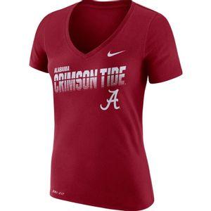 Women's Nike Alabama Crimson Tide Dri-FIT V-Neck T-Shirt (Crimson)