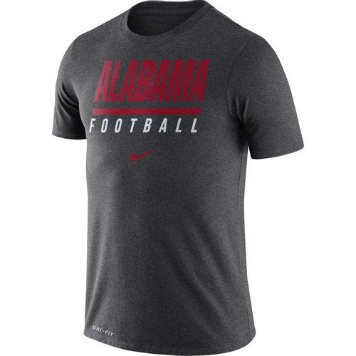 Men's Nike Alabama Crimson Tide Dri-FIT Icon Wordmark T-Shirt (Charcoal)