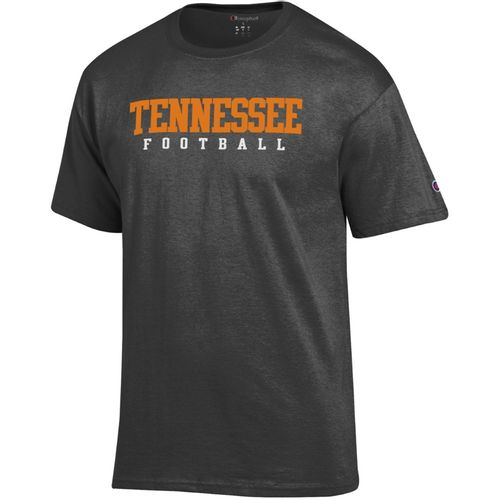 Men's Champion Tennessee Volunteers Core Football T-Shirt (Charcoal)