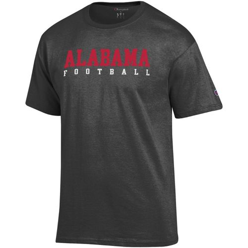 Men's Champion Alabama Crimson Tide Core Football Short Sleeve Shirt (Grey)