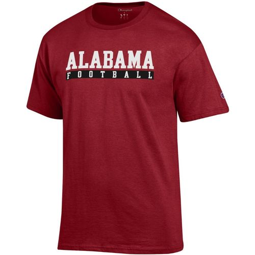 Men's Champion Alabama Crimson Tide Core Football Short Sleeve Shirt (Crimson)