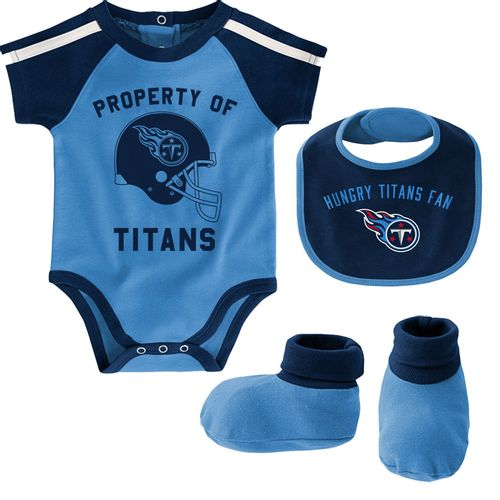 Infant Tennessee Titans Tackle Onesie (Light Blue)