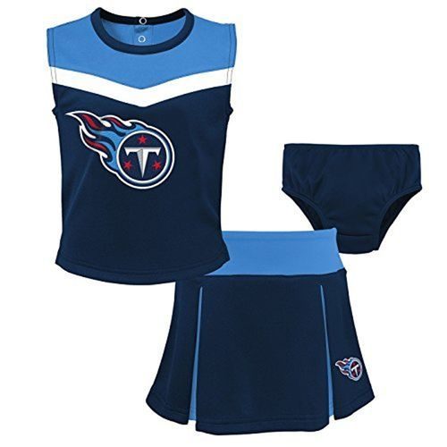 Toddler Tennessee Titans Spirit Cheerleader Set (Navy)