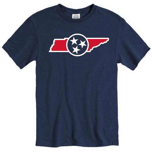 Men's Tennessee State Of Mine Tri-Star T-Shirt (Navy)