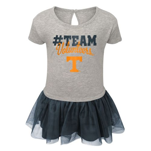 Toddler Tennessee Volunteers Game Dress (Dark Heather Grey)