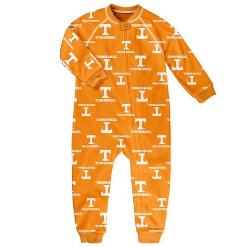 Toddler Tennessee Volunteers Raglan Zip-Up Pajama (Orange)