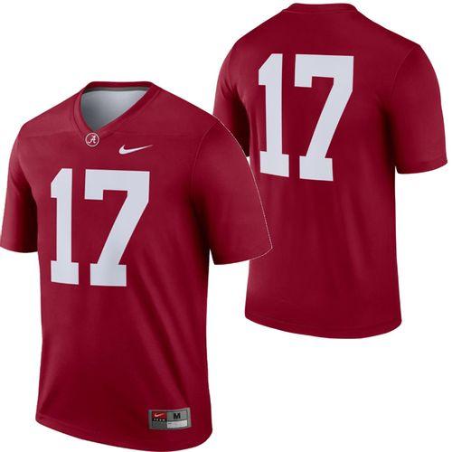 Men's Nike Alabama Crimson Tide #17 Legend Home Jersey (Crimson)