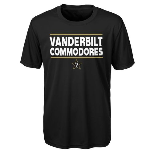 Youth Vanderbilt Commodores Performance Short Sleeve Shirt (Black)