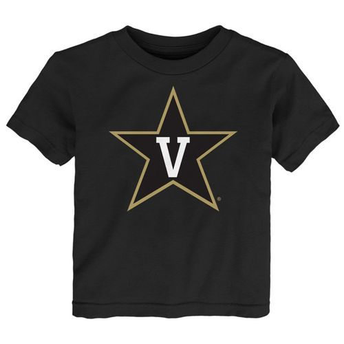 Infant Vanderbilt Commodores Primary Logo Short Sleeve Shirt (Black)