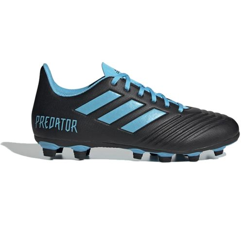 Men's Adidas Predator 19.4 FXG Soccer Cleat (Black/Cyan)