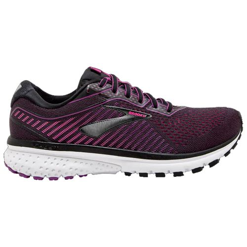 Women's Brooks Ghost 12 (Black/Pink)