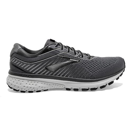 Men's Brooks Ghost 12 Wide (Black/Grey)
