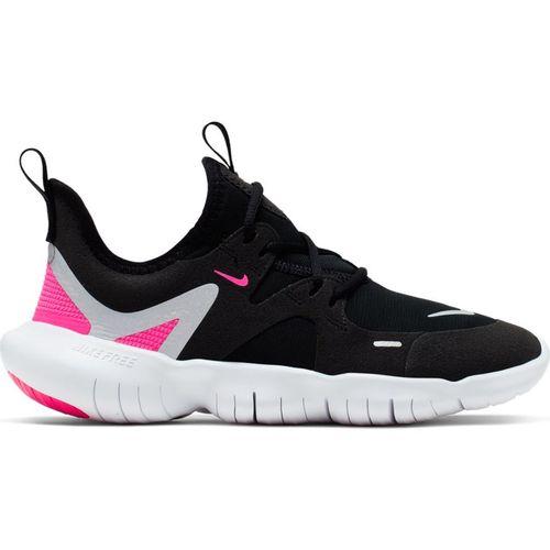 Grade School Nike Free Run 5.0 (Black/Metallic Silver)