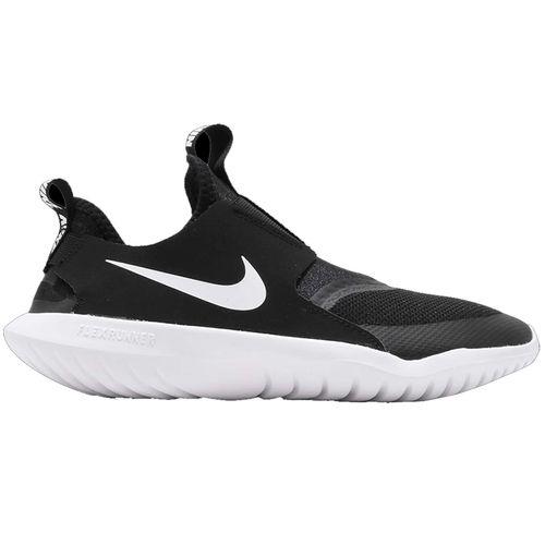 Grade School Nike Flex Runner (Black/White)