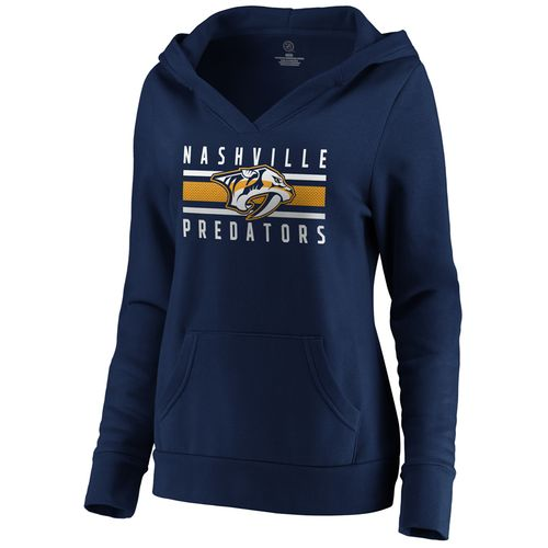 Women's Fanatics Nashville Predators Stacked Hooded Sweatshirt (Navy)