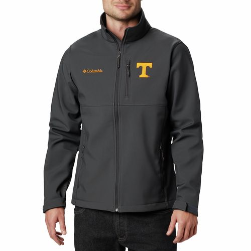 Men's Columbia Tennessee Volunteers Ascender Softshell Jacket (Dark Grey)