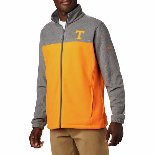 Men's Columbia Tennessee Volunteers Flanker Fleece Jacket (Orange/Charcoal)