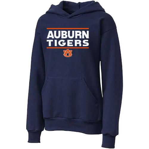 Youth Auburn Tigers Hooded Fleece Hoodie (Navy)