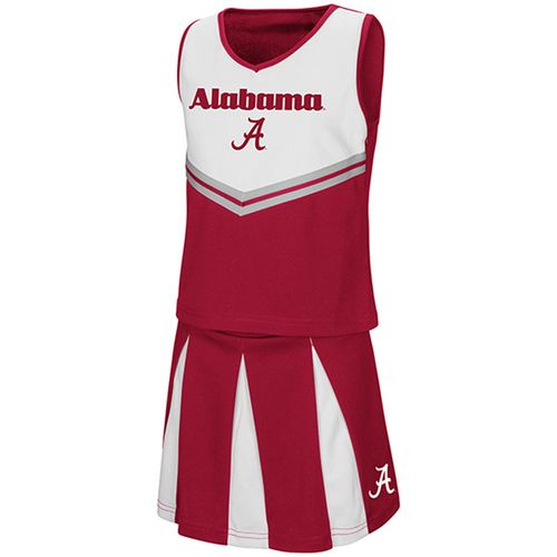 Girl's Alabama Pom Pom Cheerleader Set (Crimson/Grey)