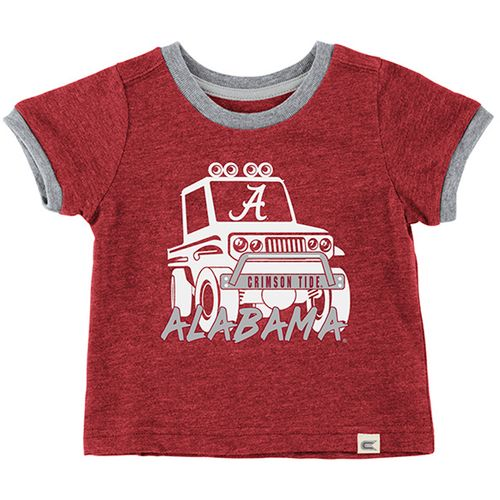 Infant Alabama Crimson Tide Mud Flap T-Shirt (Crimson/Heather)
