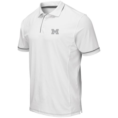 Men's Colosseum Michigan Wolverines Iceland Polo (White)