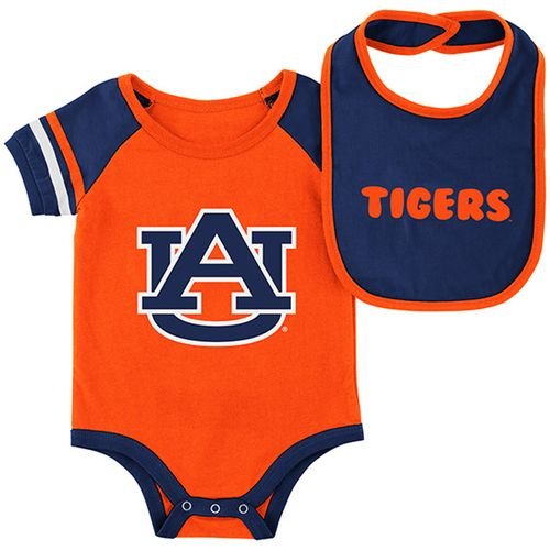 Infant Auburn Tigers Roll Out Bib and Onesie (Orange)