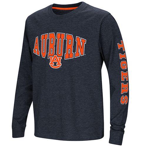 Youth Auburn Tigers Spike Long Sleeve Shirt (Navy)