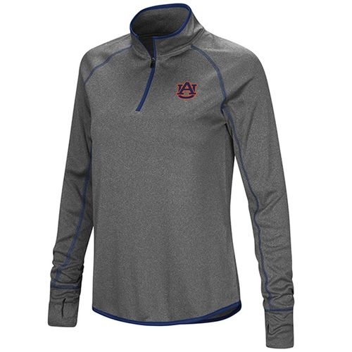 Women's Auburn Tigers Shark 1/4 Zip-Up (Charcoal)