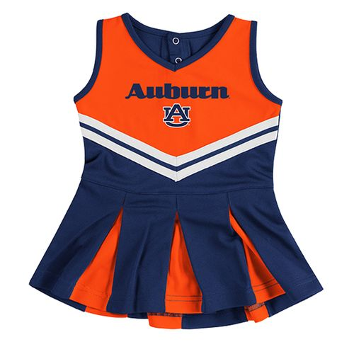 Infant Auburn Tigers Pom Pom Cheerleader