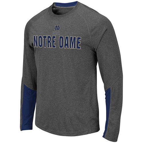 Men's Notre Dame Fighting Irish Brisbane Long Sleeve Shirt (Charcoal/Navy)