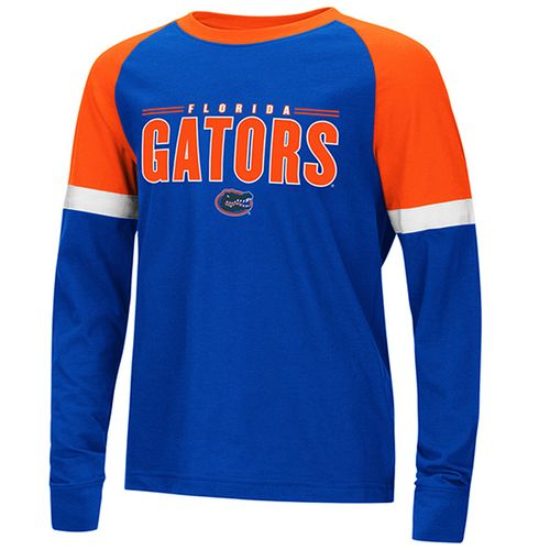 Youth Florida Gators Ollie Raglan Long Sleeve Shirt (Royal/Orange)