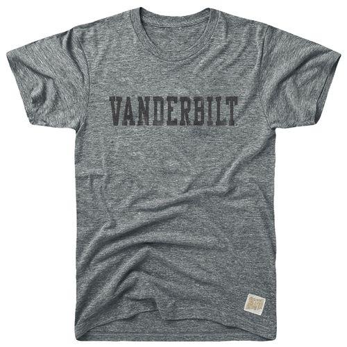 Men's Retro Brand Vanderbilt Commodores Morty Tri-Blend Arch T-Shirt (Grey)