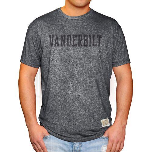 Men's Retro Brand Vanderbilt Commodores Mikey Arch T-Shirt (Charcoal)