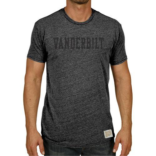 Men's Retro Brand Vanderbilt Commodores Morty Tri-Blend Arch T-Shirt (Black)
