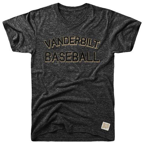 Men's Retro Brand Vanderbilt Commodores Morty Baseball T-Shirt (Black)