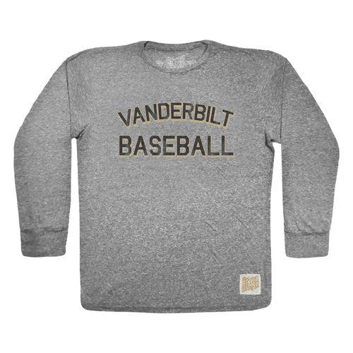 Men's Retro Brand Vanderbilt Commodores Sam Baseball Long Sleeve Shirt (Grey)