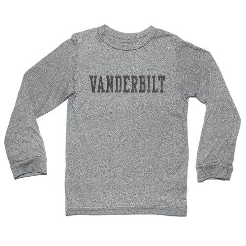Men's Retro Brand Vanderbilt Commodores Jason Baseball Long Sleeve Shirt (Charcoal)