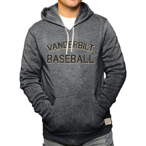 Men's Retro Brand Vanderbilt Commodores Alex Baseball Hooded Fleece Sweatshirt (Black)