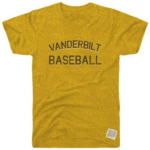 Men's Retro Brand Vanderbilt Commodores Mikey Baseball T-Shirt (Gold)
