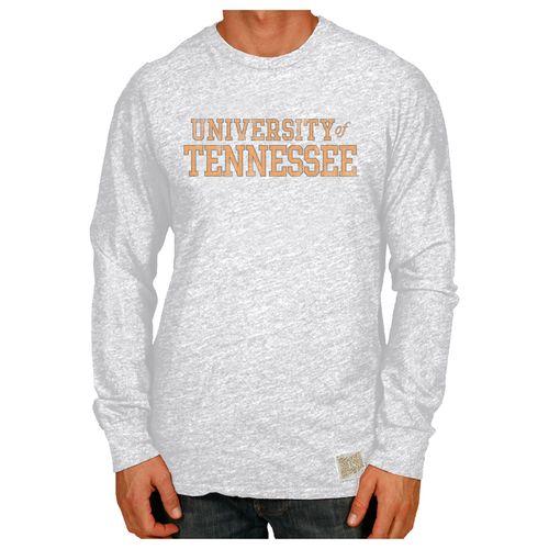 Men's Retro Brand Tennessee Volunteers Tri-Blend Long Sleeve Shirt (White)