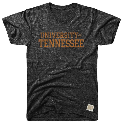 Men's Retro Brand Tennessee Volunteers Tri-Blend T-Shirt (Heather Black)