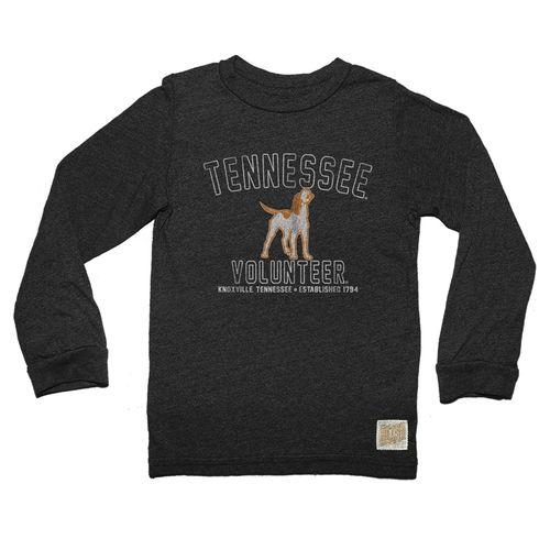 Men's Retro Brand Tennessee Volunteers Smokey Mock Twist Long Sleeve Shirt (Matte Black)
