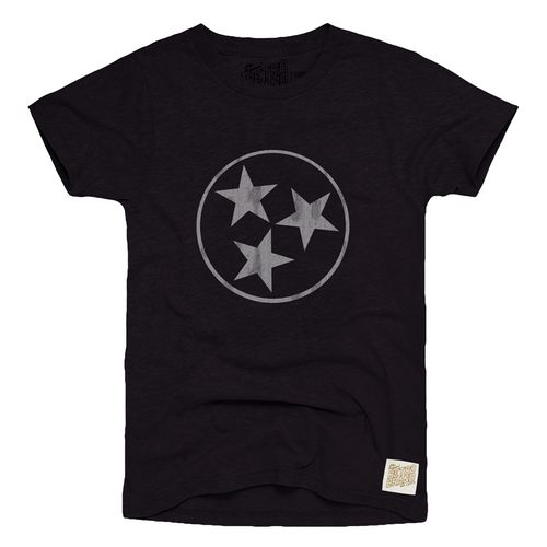 Men's Retro Brand Tri-Star Nick Heather Shirt (Heather Black)