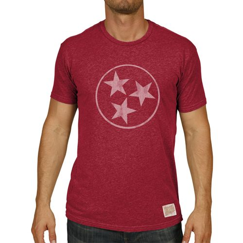 Men's Retro Brand Tri-Star Nick Heather T-Shirt (Deep Red)
