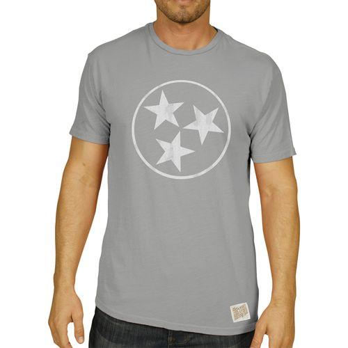 Men's Retro Brand Tri-Star Teddy Slub T-Shirt (Silver)