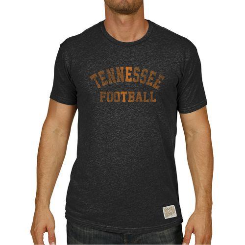 Men's Retro Brand Tennessee Volunteers Football Heather Nick T-Shirt (Heather Black)