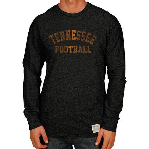 Men's Retro Brand Tennessee Volunteers Football Tri-Blend Long Sleeve Shirt (Grey)