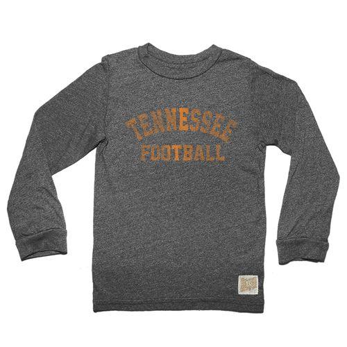 Men's Retro Brand Tennessee Volunteers Football Jason Long Sleeve Shirt (Matte Charcoal)