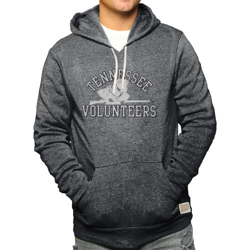 Men's Retro Brand Tennessee Volunteers Rifleman Tri-Blend Hooded Fleece Sweatshirt (Black)